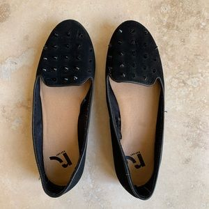 Report spiked loafers flats shoes